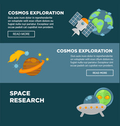 cosmos exploration and space research promotional vector image