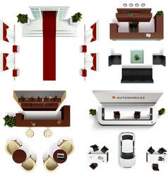 Hall Interior Elements Set vector image vector image