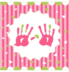 handprint of girl vector image vector image