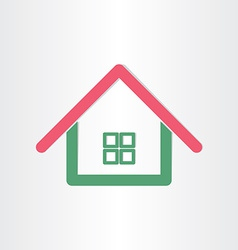 real estate house icon vector image