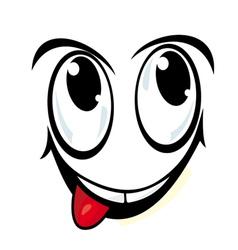 Silly cartoon face vector
