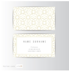 Visit card set with arabic ornament vector image vector image