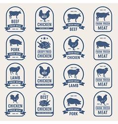 Big set of meat labels 001 vector image