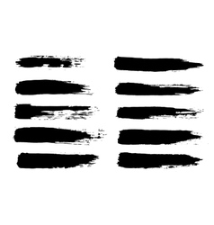 black grungy hand-painted vector image vector image