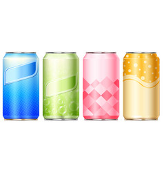 different label designs on aluminum cans vector image