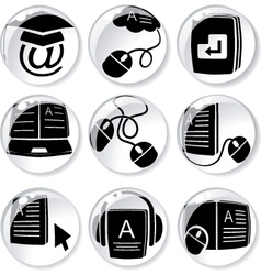 digital learning vector image