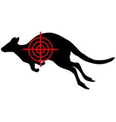 Kangaroo crosslines vector