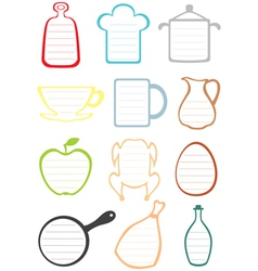 kitchen note vector image vector image