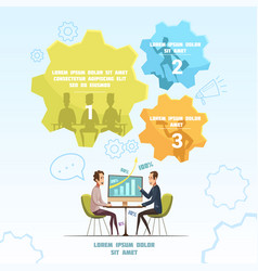 meeting infographic set vector image