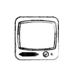 old television media vector image vector image