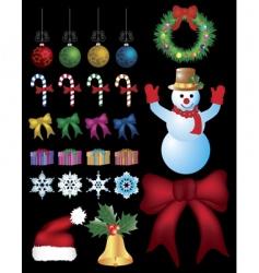 christmas kit vector image
