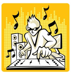 Music DJ vector image vector image