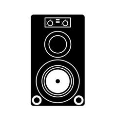 musical speaker audio stereo pictogram vector image