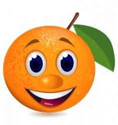 orange character vector image vector image