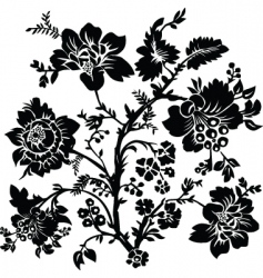 rose and thorn ornament vector image vector image