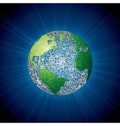 Social Media Icons Globe vector image vector image