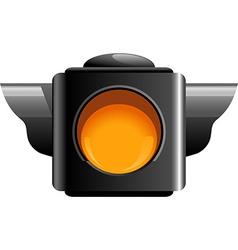 Yellow traffic light vector image