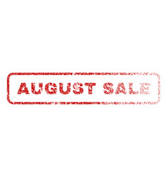 august sale rubber stamp vector image