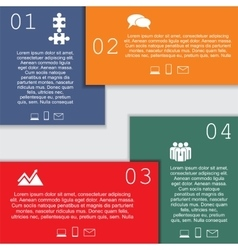 Infographic report template with text and icons vector image