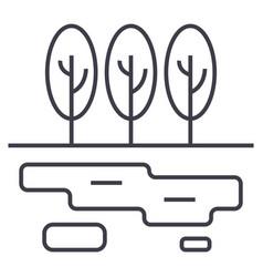 marshlake line icon sign on vector image