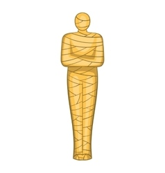 Ancient mummy icon cartoon style vector