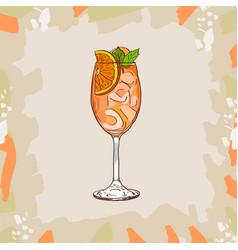 Aperol spritz cocktail alcoholic classic bar vector
