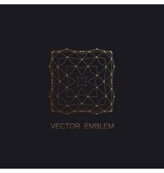 Art-deco golden emblem vector