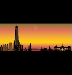 bangkok city skyline vector image