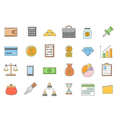 Banking and finance icons set vector image