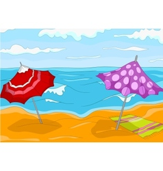 Beach Cartoon vector image