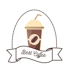 best coffee paper cup beverage vector image