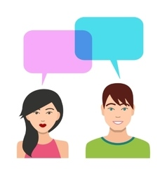 Boys and Girls Talking vector image