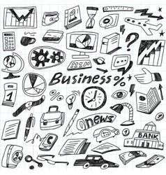 Business - doodles set vector