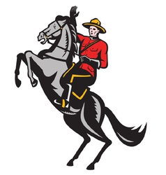 Canadian mounted police vector