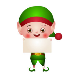 character christmas cute elf vector image