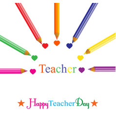 Colorful background on teachers day vector