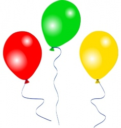 Colourful party balloons vector