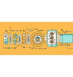 Concept of Smart Home and Control Device vector image