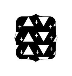 Contour quadrate with memphis style geometric vector