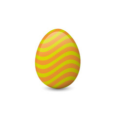 Decorated and painted easter egg isolated on the vector