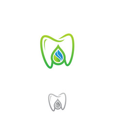 dental droplet vector image
