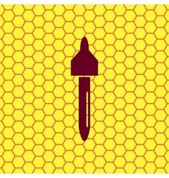 Dropper icon symbol flat modern web design vector