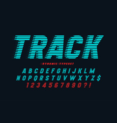 Dynamic alphabet design letters and vector