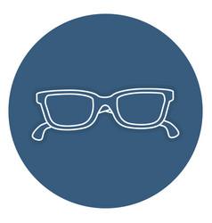 Eye glasses isolated icon vector