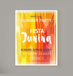 festa junina fest vector image