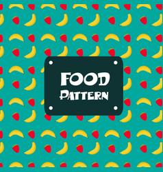 food pattern banana strawberry background i vector image