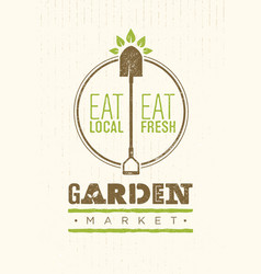 garden market food concept eco local food vector image