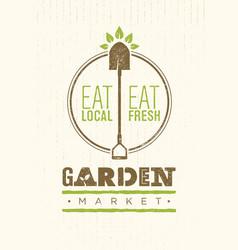Garden market food concept eco local food vector