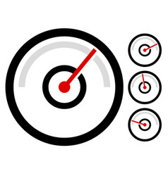 Gauge meter symbol icon at 4 stages pressure vector