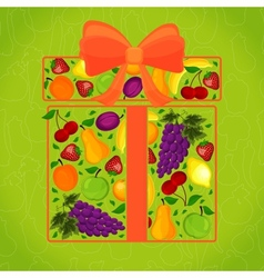 Gift from fruit decorated vector